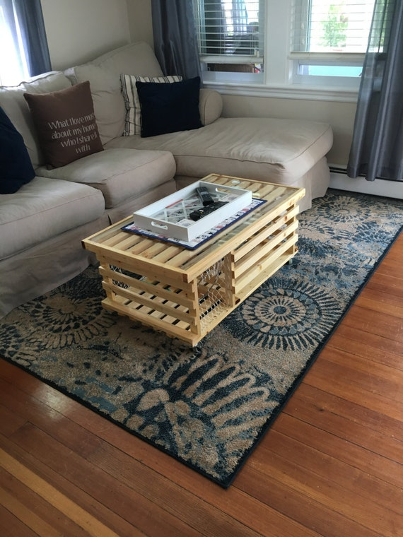 Polyd Wooden Lobster Trap Coffee Table Made in USA Free