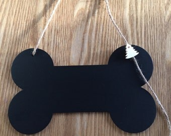 Shabby Chic Rustic Handmade Dog Bone (blackboard, chalkboard) -  Gift Idea - Wedding - Christmas