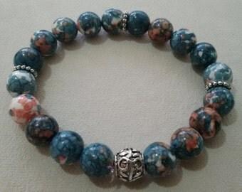 10mm Rain Stone Handmade Stretchable Bracelet OM028