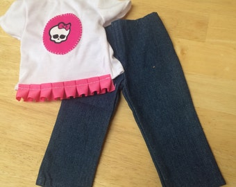 Monster High American Girl Shirt and jeans