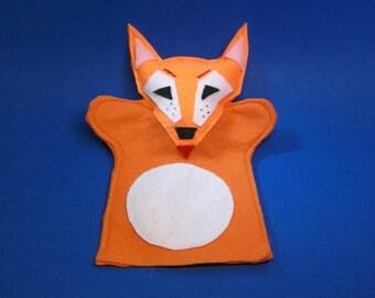 Red Fox Felt Hand Puppet