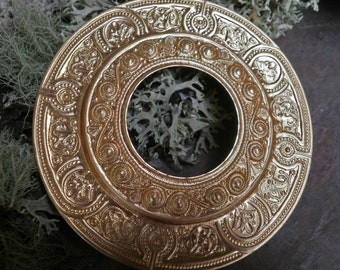 Raw Brass Stamping Gypsy Medallion Extra Large