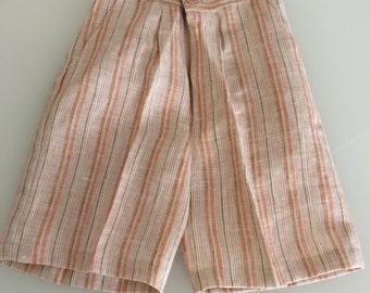 Multi Stripe Shorts, Boys Linen Shorts, Clearance  #8901
