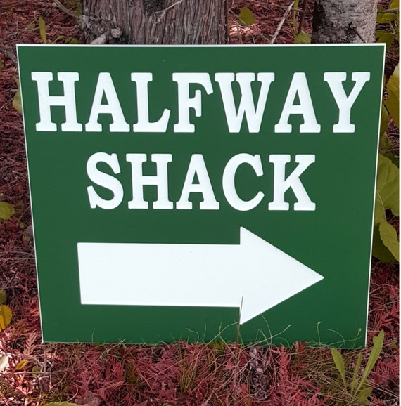 Custom made outdoor plastic sign. American made plastic. Ideal for campground, golf courses, residential address or name plaque.