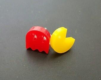 Hypoallergenic Pac-Man earrings