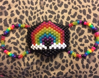 Black Rainbow Kandi Mask