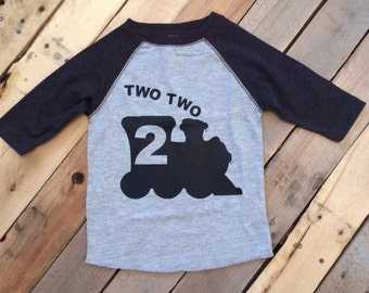 Two Two Train Toddler Shirt - 2nd Birthday Shirt - Two Shirt Toddler - Boys 2nd Birthday - Train Birthday - Train Shirt