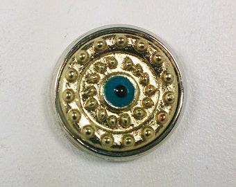 Gold Snap Button with Eye