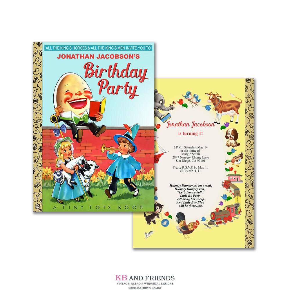 Nursery Rhyme Birthday Invitation / Printable Humpty Dumpty