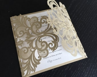 Once upon a time.. Laser cut wedding invitation
