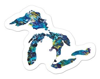 The Mini Great Lakes Art Sticker
