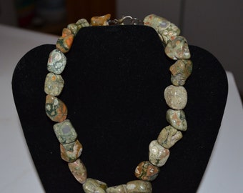 Vintage Chunky Jasper Rock Necklace