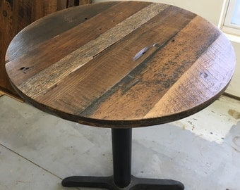 round dining table top reclaimed wood variety add your base custom