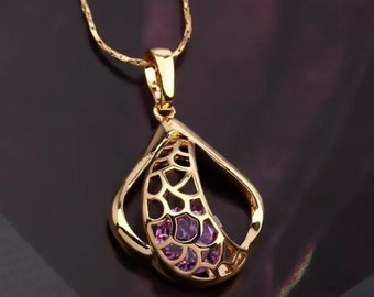 Retro gold filled necklace with pendant