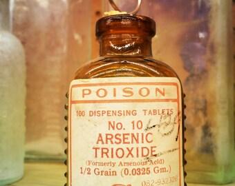 Poison Antique Medicine Bottle - Medicine Art - Antique Wall Decor - Vintage Bottle Art