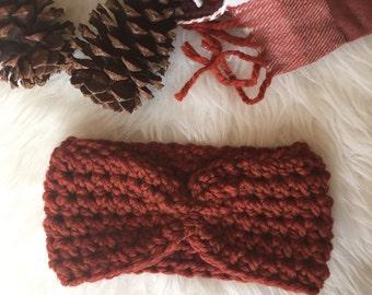 Adult Turban Earwarmer Crocheted