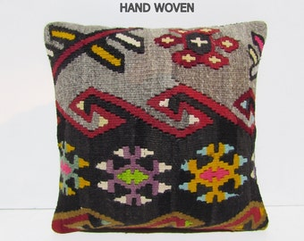 century kilim pillow multicolor kilim pillow cover climatic kilim pillowcase tribe kilim cushion mediterranean turkish pillow case rug D2176