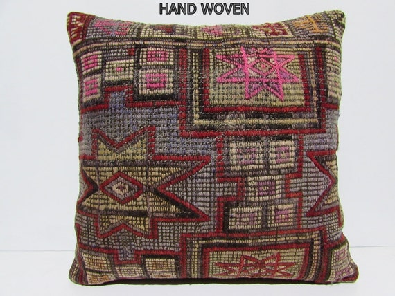 kilim pillow 24x24 large cushion cover large outdoor pillow