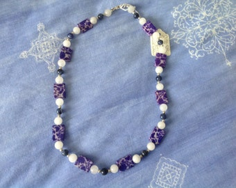 Handmade necklace in genuine gemstones