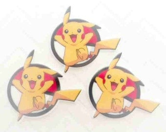 45mm Pikachu Flatback Resin Cabochon 4 pcs