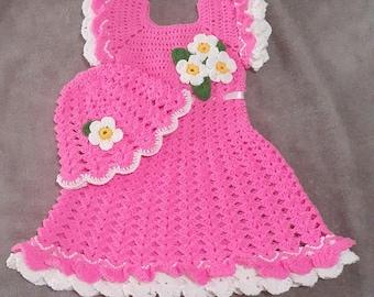 Crochet Easy Baby Dress And Hat Pattern Cute Dress Pattern