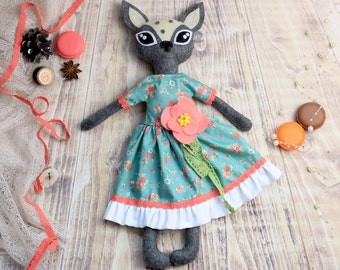 Fawn doll - art doll - ooak - ready to ship