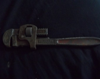 Vintage/Primative Tool--Genuine Stillson Walworth 10 inch pipe wrench.