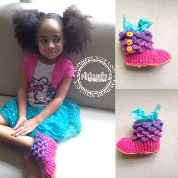 Slippers Crocodile Stitch - Child slippers - Kids Slippers - Kids footies Back to School/ Christmas in July Sale