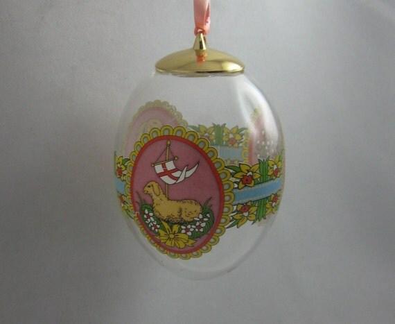 ROSENTHAL Classic Germany 1997. Glass Easter Egg. Height 6 cm, diameter 4 cm.