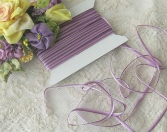 """Ombre (Lavenders) Ribbon Trim 1/8"""" - Ribbonwork, Embroidery, Crafts, Sewing, Miniatures (3 yd. cuts)"""