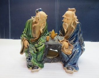 Antique Chinese Figurine a superb antique chinese mudmen figurine Circa 1900 -1909