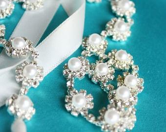 Rhinstone, pearl  Bridal Headband | Wedding Hair Band | Wedding Hair Accessories