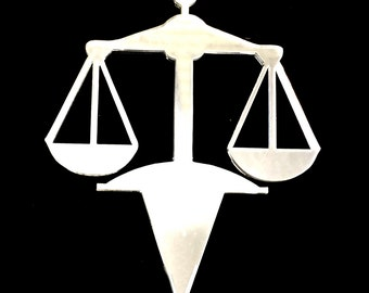Justice Scales Cake Topper