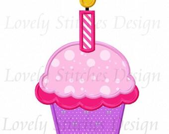Cupcake Applique Machine Embroidery Design NO:0513