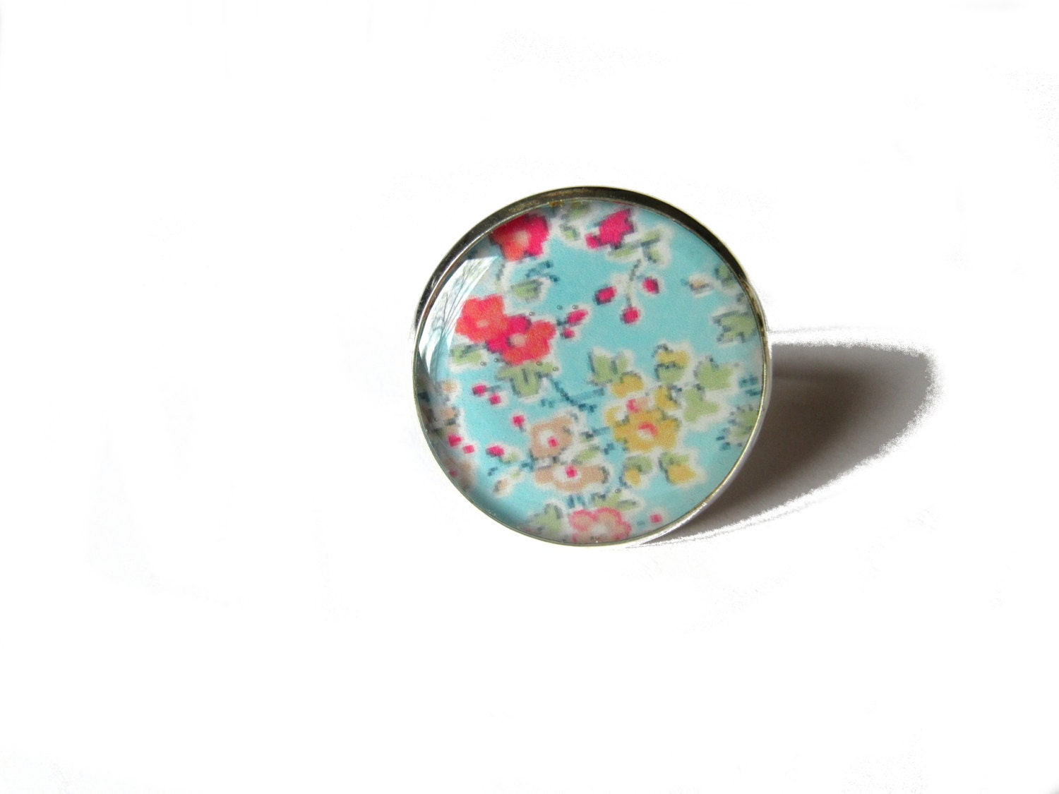 FLOWER RING Pastel Floral ring Flower Jewelry