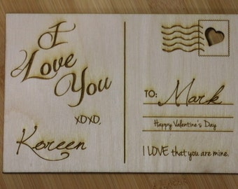 Wooden Post Card