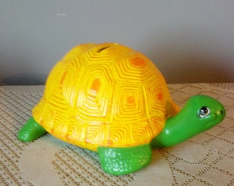 Ceramic Turtle  Coin Piggy Bank