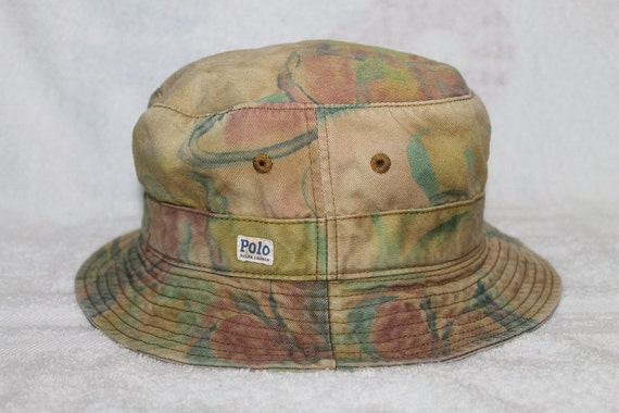 Vintage polo ralph lauren bucket hat golf sportsman hunting for Polo fishing hat