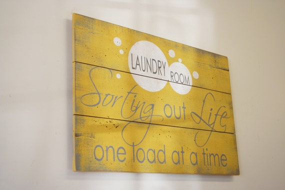 Laundry Sign Wood Pallet Room Decor