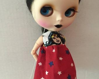 Blythe doll dress Wonder Woman