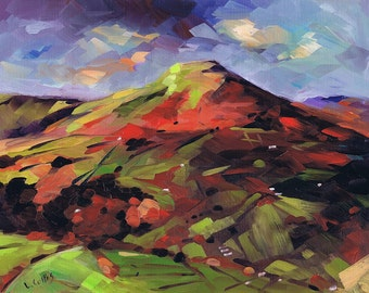 The Sugarloaf, The Black Mountains. 7'' x 5'' Art Greetings Card. Quality printed card, blank inside.