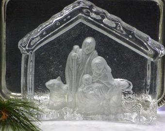 Clear glass nativity display