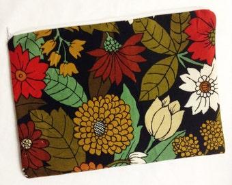 Fall Floral Zipper Pouch