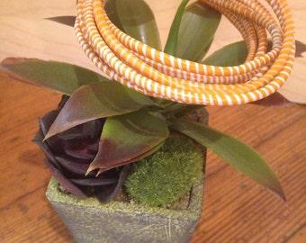 Orange Recycled Flip Flop Bracelets