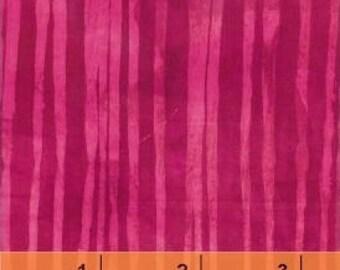 NEW Marcia Derse Studio Alphabet Bing Cherry Stripe Pink Magenta fabric BTY