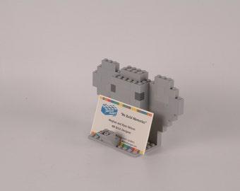 Fun Elephant business card holder made using LEGO (R) bricks