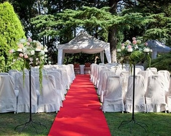 """Aisle & Event Runner ~ Hollywood Red ~ 50 ft L x 38"""" W ~ Puncture Resistant! Weddings, Theater, Oscar Party, Graduation"""