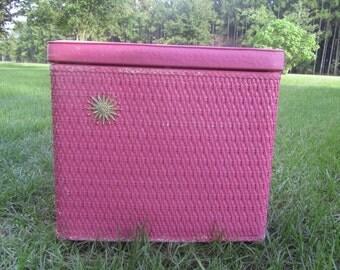 vintage clothes hamper bright pink pink laundry decorretro decor