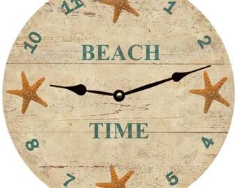 Personalized Starfish Clock