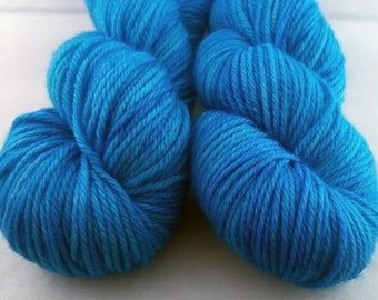 Caribbean - Hand Dyed Superwash Merino Worsted Yarn